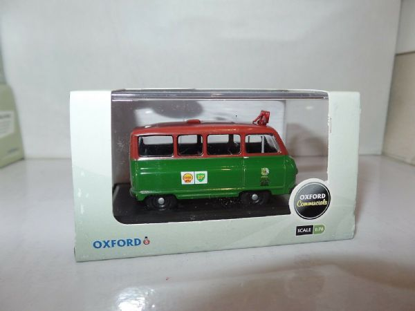 Oxford 76JA008 JA008 1/76 OO Scale Austin J2 Minibus Shell Mex BP Oil Petrol